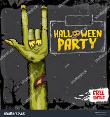 halloween horizontal background halloween background rock n roll zombie stock vector 490023964