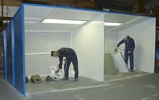 spray booth extractor fan paint spray booth spray booths horizon int