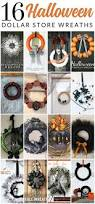 Diy Halloween Wreath Ideas by 16 Diy Dollar Store Halloween Wreaths The Crazy Craft Lady