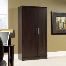 Glass Doors Cabinets by Wood Storage Cabinet With Doors Image On Appealing Floor Storage