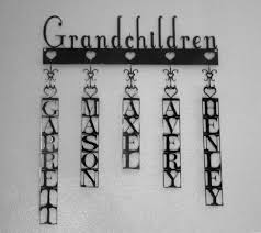 Gift For Home Customizable Metal Grandchildren Sign Family Name Sign Gifts For