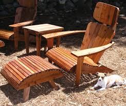 Redwood Adirondack Chair Modern Adirondack Chair Set Chair Headrest Ottoman And Side