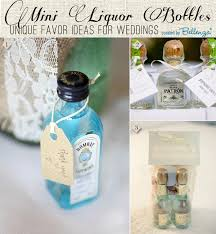 wedding favors mini liquor bottles as wedding favors