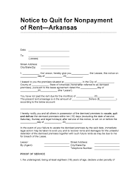 Arkansas Power Of Attorney Form by Free Arkansas 10 Day Notice To Quit For Non Payment Of Rent Pdf