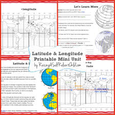 Latitude Map Of The World by Free Printable Mini Unit Latitude And Longitude For Kids The