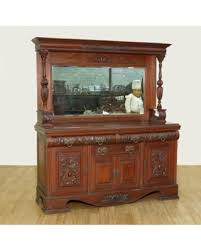 Antique Server Buffet by Great Deals On C1900 Large Antique Walnut Mirrorback Buffet