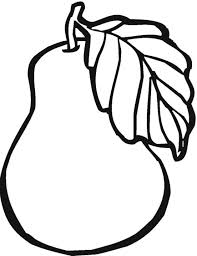 pear fruit coloring pages fruits coloring pages of