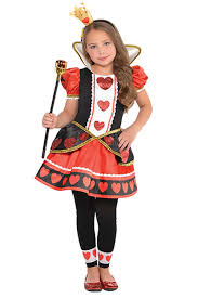 girls christys dress up queen of hearts fancy dress costume 6 8