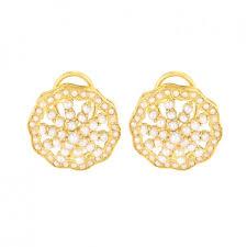 gold studs 22k gold pearl chunky studs raj jewels