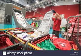 with post at leeds mail centre stock photos with