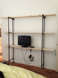 homemade modern trendy design metal pipe shelves remarkable homemade modern ep47