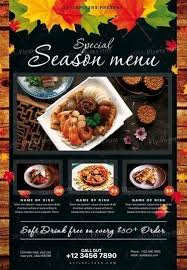 menu flyer template special season menu psd flyer template 20428 styleflyers
