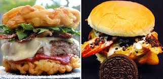funnel cake cheeseburger vs deep fried oreo burger what should