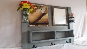 Shelf Hooks Entryway Amazon Com Entryway Organizer Mirror With Shelf Whiteboard