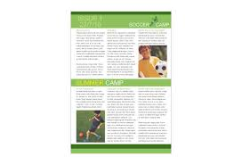 soccer sports camp print template pack from serif com