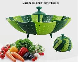 fruit and vegetable basket the new steamers multifunctional silicone folding steamer