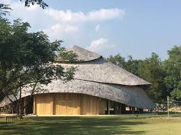 Den Architecture by Panyaden International Sports Hall Bamboo Architecture