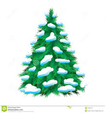 green fur tree covered with snow stock vector image 18266953