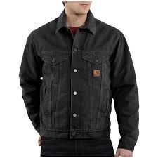 carhartt black friday deals men u0027s carhartt sandstone jean jacket 227111 insulated jackets