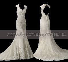 key back wedding dress lace backless wedding dress trumpet scalloped key back open