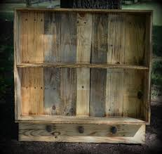 rustic wood pallet wall shelf
