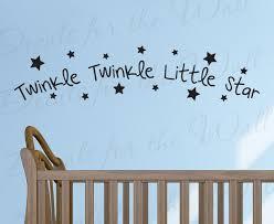 wall decal quote sticker vinyl art mural twinkle twinkle little