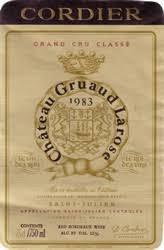 30 years of château gruaud 1983 château gruaud larose bordeaux médoc st julien