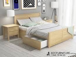 PCE Natural Queen Storage Bedroom Suite Modern Minimalist Design - Bedroom furniture in melbourne