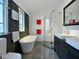 Bathroom Design With Freestanding Bath Using Frosted Glass - Glass bathroom designs