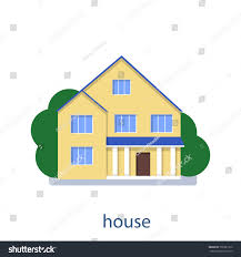 home front view design pictures flat illustration vector design house front stock vector 735981310