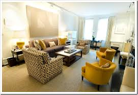 Grey Yellow Chair How To Make Your Brown Sofa Sing A Happy Tune Wall Colors