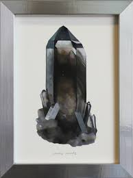 benitoite drawing crystals u2014 erin elizabeth ross painting and drawing