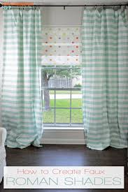 No Sew Roman Shades Instructions - i should be mopping the floor how to create faux roman shades