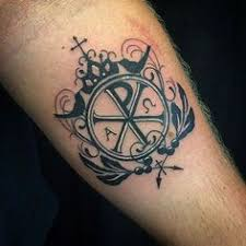 chi rho bemycanvas negativespace tattoo pinterest chi rho