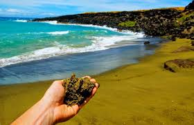 where is the black sand beach papalolea green sand beach big island hawaii aloha dreams