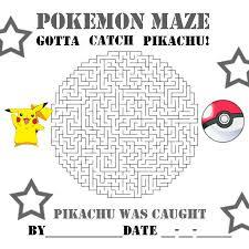pokemon coloring pages pikachu pokeball maze pokemon