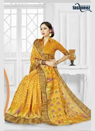 yellow patch border work classic designer saree