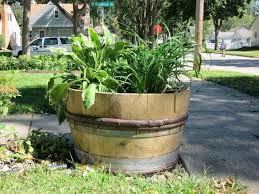 garden design garden design with wine barrel planter on pinterest