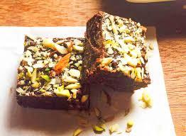 no bake eggless dark chocolate fudge recipe with nuts by archana u0027s