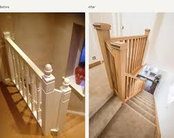 Replacing Banister Spindles Before And After Glass And Wood Staircase Renovations Medlock
