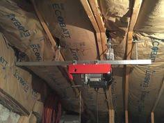 home made garage attic lift hoist elevator dumb waiter using