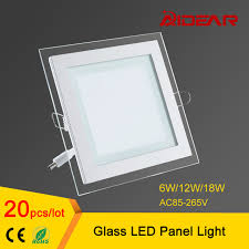 Led Ceiling Panel Lights Glass Led Panel Downlight 6w 12w 18w Square Led Ceiling Recessed