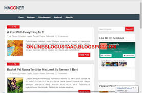 maggner blogger template free download without payment online