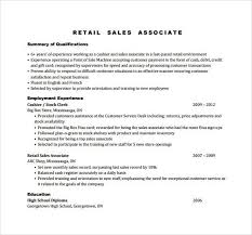 Sample Sales Associate Resume by Sign Up Renegadesolutions Us