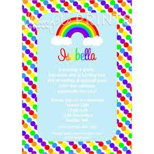 rainbow printable birthday invitation dimple prints shop clip