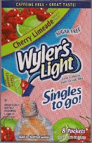 wyler s light singles to go nutritional information amazon com wyler s cherry limeade singles to go 6 boxes 8 packets