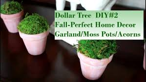 dollar tree fall perfect home decor diy 2 garland moss pots acorns dollar tree fall perfect home decor diy 2 garland moss pots acorns youtube