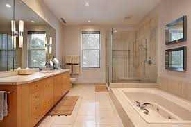 Bathroom Vanity Outlet by Master Bath In Luxury Home With Oak Wood Cabinetry Master