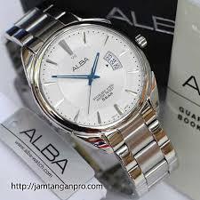 Jual Jam Tangan Alba jual alba as9a69x1 white silver with blue marker jam pria as9a