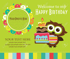 Design Invitation Card For Birthday Party Kid Invitation Card Design Vector Illustration Royalty Free